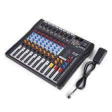 Amazon.com: VEVOR <b>8 Channel</b> Audio Mixer with 48V Phantom ...
