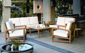 nice teak outdoor sofa