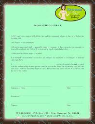 bridal makeup contract for makeup artist