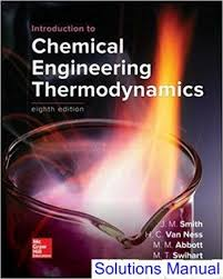 Introduction to Chemical Engineering Thermodynamics 8th Edition ...
