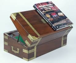 a campaign box with elaborate secret drawers and compartments circa 1800 bytes