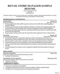 97 Resume For Retail Management Retail Manager Resume New Store