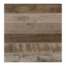 modern outdoor living weathered wood 18 in x 18 in glazed porcelain floor and