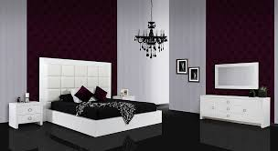 white color bedroom furniture. Modern Lacquer Bedroom Furniture In White Color - VGUNAA216-180WHT | By Miami T