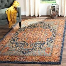 blue orange rug evoke vintage medallion blue orange rug pateros distressed tribal blue orange area rug