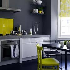 Grey And White Kitchen Exotic Grey And White Kitchen Set With Yellow Backsplash Tile Also