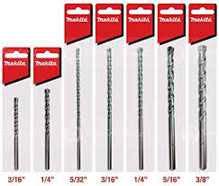 Drill Point Length Chart Makita 7 Piece Complete Concrete Drill Bit Set For Hammer Drills Precise Drilling For Masonry Concrete Tungsten Carbide Bits