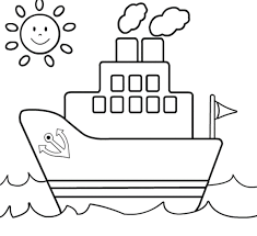 ship coloring page for kids transportation coloring pages of