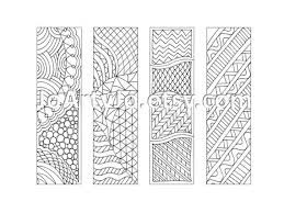 Small Picture Printable Bookmarks Zentangle Inspired Coloring Page Sheet 12