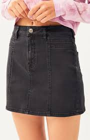 Pacsun Skirt Size Chart Pacsun Pacsun Coal Seamed Mini Skirt In 2019