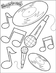 Music Coloring Pages Printable Music Coloring Pages Printable Cat