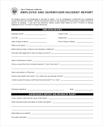 17 Sample Incident Report Templates 341813600037 Free Incident