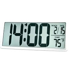 digital wall clock with temperature large atomic digital wall clock with indoor outdoor temperature and date