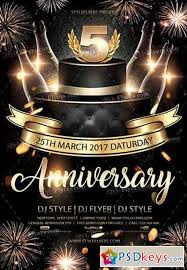 Anniversary Psd Flyer Template 7 Free Download Photoshop