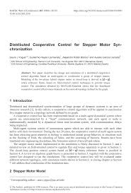 pdf distributed cooperative control for stepper motor synchronization