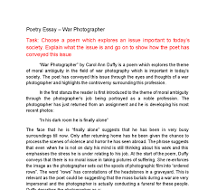 war photographer by carol ann duffy is a poem which explores the  document image preview