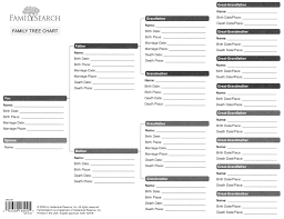 Printable Family Tree Template Free Generations Online