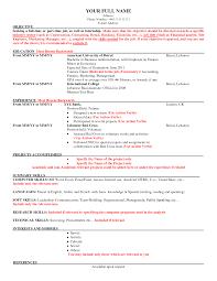 Cv American Resume Samples Fabulous Example Standart Nor Examples