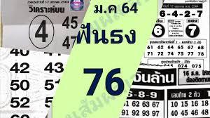 เลขเด็ดหวยดังงวดนี้ 17/01/64 ประจำวันที่ 14 มกราคม 2564