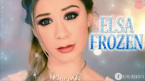 elsa frozen inspired makeup tutorial biibiibeauty bronwyn simple scene makeup