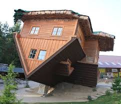Image result for picture of  upside down house