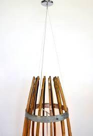 craftsman teuthida wine barrel stave chandelier