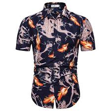 Pop Fit Size Chart Amazon Com Men Fashion Summer Hip Pop Style Feather Printed