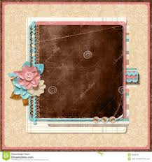 Retro Family Album 365 Project Scrapbooking Templates Stock