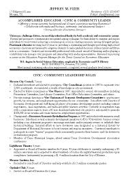 civic leader resume example legal