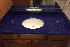 countertop ideas recycled glass granite countertops springfield mo in blue inspirations 43