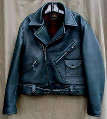 custom trojan motorcycle jacket navy blue or evergreen deerskin nos vintage plaid hunters wool lining matching belt nos crown brass zippers size 38 48