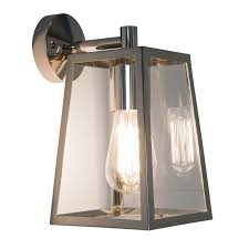 astro calvi outdoor hanging lantern wall light polished nickel lighting direct