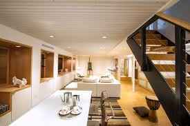 rustic corrugated metal ceiling basement contemporary with rec room white leather couch led lights