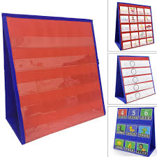 Study Funny Double Sided Number Display Folding 5 Slots Home