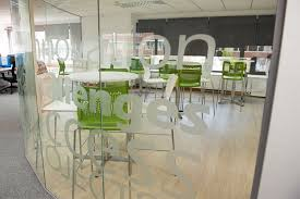 office canteen. Brilliant Office Sidetrade Office Canteen Curved Glazed Partition Wall To Office Canteen