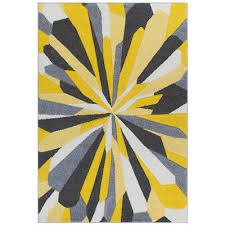 details about abstract yellow grey easycare modern contemporary rug runner s large 30 off