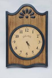 vtg bulova wall clock faux wood blue