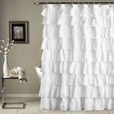 white shower curtain. Would Be Even Better In Ruffled White Lace! Ruffle Shower Curtain O