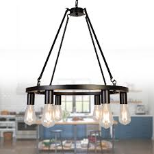 Wagon Wheel Pendant Light Osairuos Wagon Wheel Vintage Chandelier Kitchen Island Rustic Pendant Farmhouse Antique Chandeliers Ceiling Light Fixture For Dining Living Room Cafe