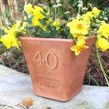 personalised birthday engraved terracotta pot 40th birthday gifts