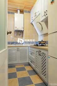Checkerboard Flooring Kitchen L Shaped Kitchen Designs With New Cabinetry Also Island And Wooden