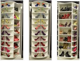marvelous rotating shoe rack