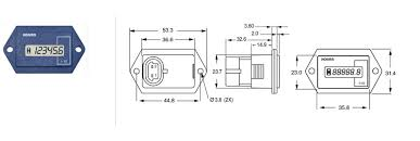 curtis instruments 701 hour meter round 12 48vdc bylong industries curtis hour meter wiring diagram curtis instruments 700 series g Curtis Hour Meter Wiring Diagram