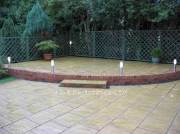 Small Picture patio ideas Sample garden designs landscaping and construction