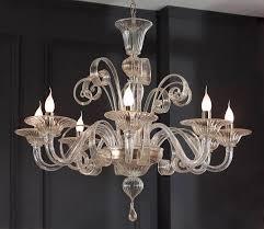 modern murano glass chandelier clear glass modern murano chandelier s1199l8 murano lighting