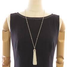 midoriya phase mint authentic tiffany co sterling authentic tiffany co sterling silver 925 olive leaf pearl tassel necklace 099505