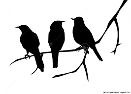 two bird silhouette.  Two View Original Size In Two Bird Silhouette W