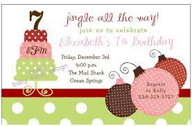 Christmas Birthday Party Invitations Baby Face Design Christmas Birthday Party Invitation For Kids