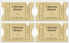 Free Templates For Tickets 6 Movie Ticket Templates To Design Customized Tickets