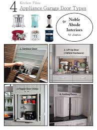 le abode interiors kitchen files 4 appliance garage door types which is the best fit for you tambour lift up flipper or folding doors